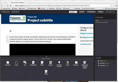 learningMaker solución para construir contenidos e-learning Blog ... | Modelos e-learning | Scoop.it