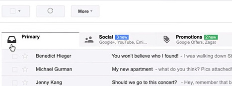 How E-Mail Marketers Can Survive Gmail's Tabbed Inbox - Morra ... | Email Marketing | Scoop.it