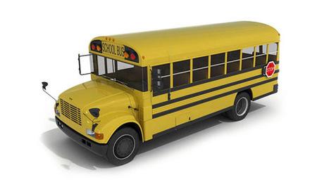 3D School bus / Bus scolaire en 3D | 3D Library | Scoop.it
