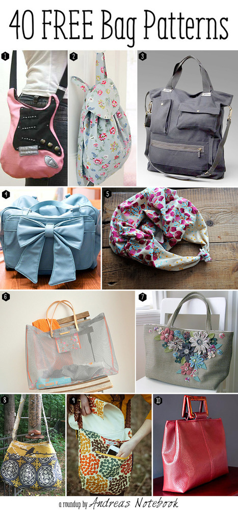 10 more free bag tutorials - Andrea's Notebook | HowStuffWorks | Scoop.it