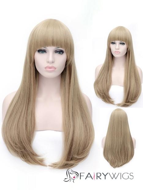 Youthful Long Straight Full Bang Synthetic Hair Wigs : fairywigs.com | Synthetic Hair Wigs | Scoop.it
