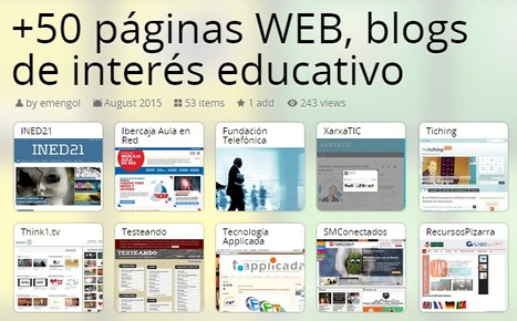 +50 PÁGINAS WEB, BLOGS DE INTERÉS EDUCATIVO | Educación Virtual UNET | Scoop.it