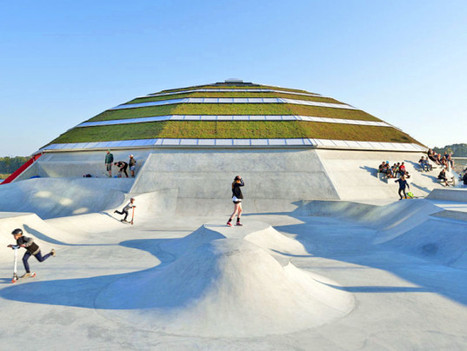 Massive Green-Roofed StreetDome Skate Park Pops Up in Denmark | sustainable architecture | Scoop.it