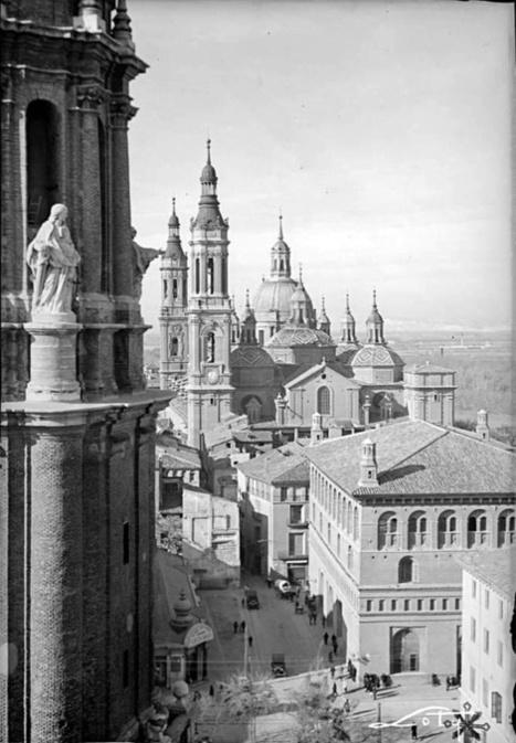 Zaragoza antigua. La Lonja, el Pilar y la torre de la Seo.   Curious World   Scoop.it