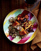 Squash Stuffed with Quinoa and Wild Mushrooms Recipe - Kevin Kathman | Food & Wine | À Catanada na Cozinha Magazine | Scoop.it
