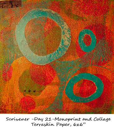 Day 21- Monoprint and Collage | Woodcuts | Scoop.it