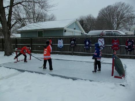 Backyard Homemade Hockey Rink is Dream Come True | diy | Scoop.it