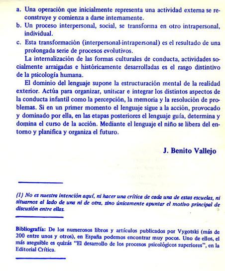 Técnicas Corporales Tercera Edad y Educación Especial: APROXIMACIÓN AL PENSAMIENTO DE VYGOTSKI. Joaquín Benito Vallejo | tecnología y aprendizaje | Scoop.it