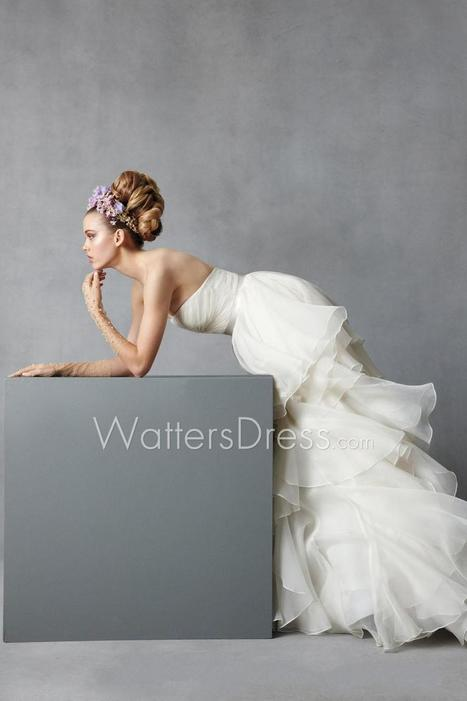 Strapless Organza Designer Bridal Cascading Ball Gown | wedding dresses collection | Scoop.it