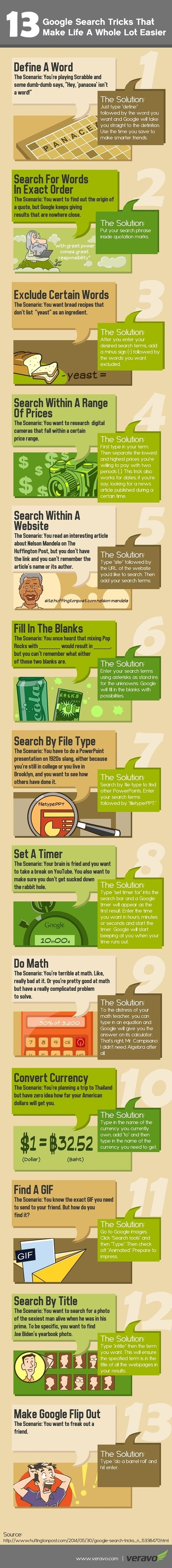Google Search Tricks Infographic - e-Learning Infographics | davidchiquero | Scoop.it
