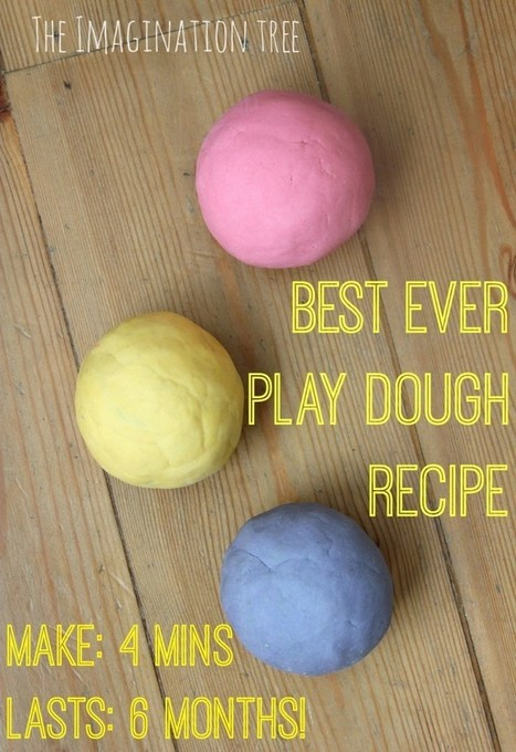 Best Ever No-Cook Play Dough Recipe! - The Imagination Tree | Learn through Play - pre-K | Scoop.it