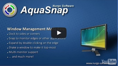 AquaSnap Window Manager: dock, snap, tile, organize | FREEWARE | Windows | Best Freeware Software | Scoop.it