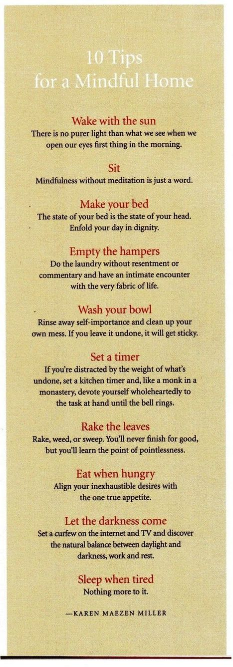 Post this in your Kitchen: 10 Tips for a Mindful Home. | Leadership and Spirituality | Scoop.it
