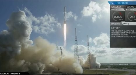 SpaceX launches Thaicom-8, returns Falcon 9 first stage to offshore drone ship | SpaceNews.com | The NewSpace Daily | Scoop.it