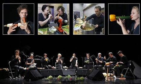 Musicians perform on instruments they make from vegetables | FMF | Scoop.it