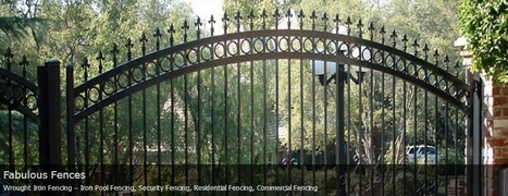 Sacramento, CA Residential and Commercial Fencing | Ornamental Iron | Wrought iron fencing | Driveway gate | Scoop.it