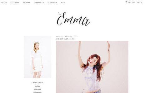 Emma Blogger Theme | Blogger themes | Scoop.it