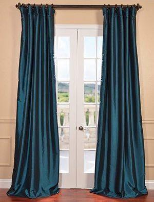 Blackout Faux Silk Taffeta Curtains | window curtains | Scoop.it