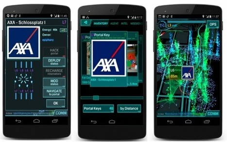 Comment AXA a utilisé le jeu Ingress de Google pour amener du trafic dans ses agences | Advergame, Social Game & Serious Game | Scoop.it
