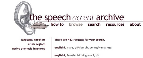 speech accent archive | TELT | Scoop.it