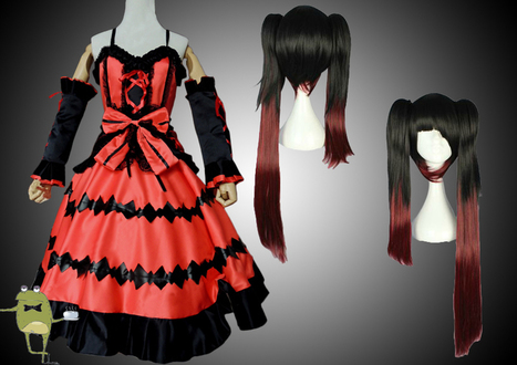 Date A Live Kurumi Tokisaki Cosplay Dress + Wig | Anime Cosplay Costumes | Scoop.it