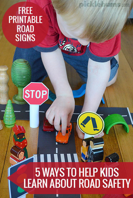 Five Ways Parents can Help Kids Learn about Road Safety. - picklebums.com | Safety Signs | Scoop.it