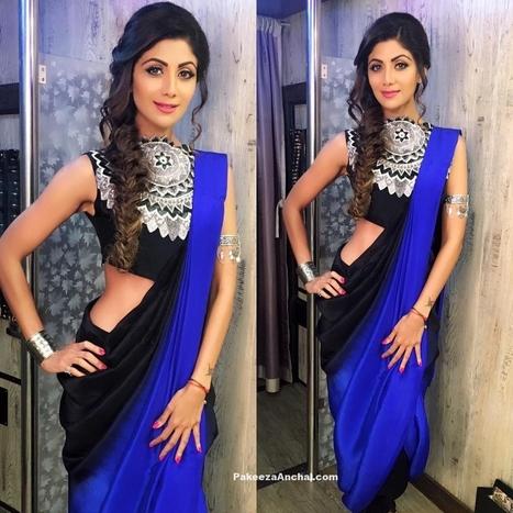 Shilpa Shetty in Stylish sleeveless Blouse Design 2016 | Indian Fashion Updates | Scoop.it