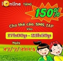 iOnline KM 150% nạp card ngày 17/07 | Game Mobile Hot | Scoop.it