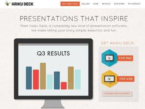 Haiku Deck, para crear presentaciones elegantes en la web | Tic, Tac... y un poquito más | Scoop.it