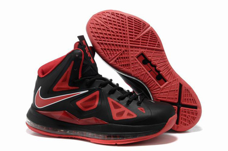 Nike Lebron 10 Pressure Black Red Basketball Shoes - Lebron 10 On Sale | 2012 Fashion Moncler Womens Jackets | Scoop.it