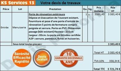 KS Services 13: Chiffrage travaux pose porte blindée : Bouches du Rhône | Courtier en travaux Bouches du Rhône | Scoop.it