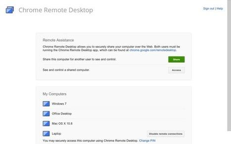 Chrome Remote Desktop – Petite mise à jour sympa | Korben | Badjack | Scoop.it