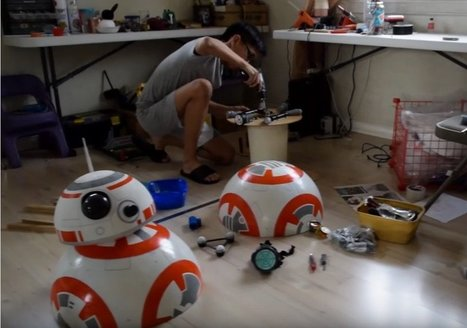 Kid Builds BB-8 Robot Out of Beach Ball, Deodorant Rollers, Speaker Magnets | Make: | iPads in Education | Scoop.it