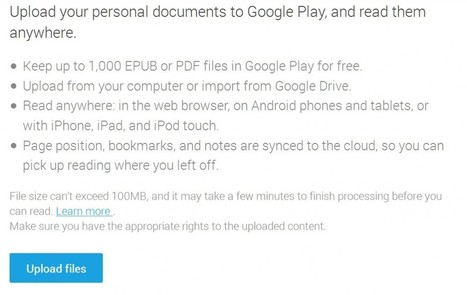 Google Play Books Increases EPUB and PDF File U... | Digi Pub | Scoop.it