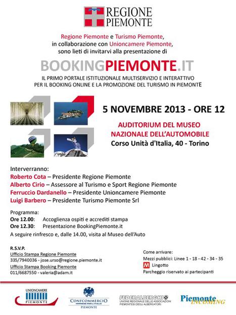 Booking Piemonte: un viaggio dinamico a partire dal web   Turismo&Territori in Rete   Scoop.it