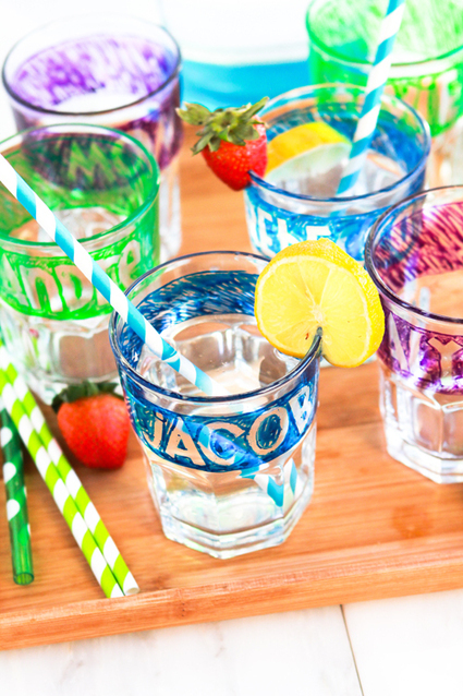 Upcycled Kitchenware: Personalized Water Glasses | Cheeky Kitchen | UK Housewares Digest | Scoop.it
