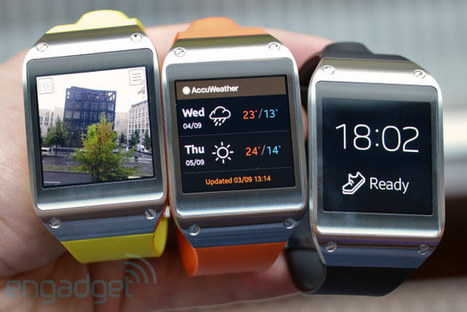 Samsung Galaxy Gear smartwatch hands-on (video) | Data Business | Scoop.it