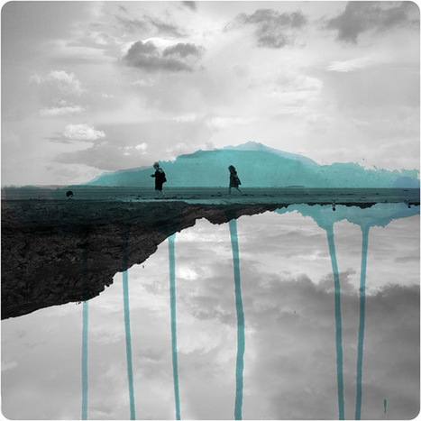 Mirrored Photographs Combined with Watercolor by Fabienne Rivory | What's new in Visual Communication? | Scoop.it
