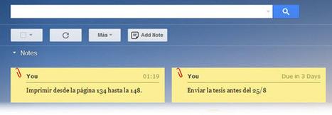Una manera simple de crear notas y recordatorios en Gmail | Apps Web PC | Scoop.it