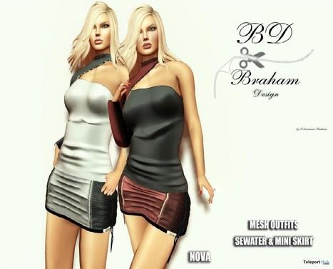 Red Nova Sweater Mini Skirt Group Gift by Braham Design | Teleport Hub - Second Life Freebies | Second Life Freebies | Scoop.it
