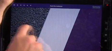 Un écran tactile donnant la sensation de toucher des textures | 21st Century Innovative Technologies and Developments as also discoveries, curiosity ( insolite)... | Scoop.it