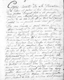 Degrés de parenté: Donation à la paroisse de Touchet | Rhit Genealogie | Scoop.it