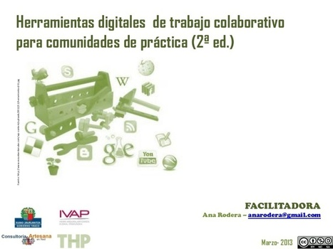 Herramientas digitales de trabajo colaborativo para comunidades de ... | Docentes y TIC (Teachers and ICT) | Scoop.it