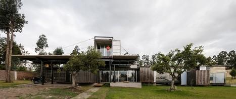 Aménagement d'une maison container en un espace habitable en Équateur | Construire Tendance | Scoop.it