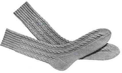 Knitting Patterns For Men s Socks On 4 Needles : Mens Cable Socks Pattern #603 & #610 Knit...