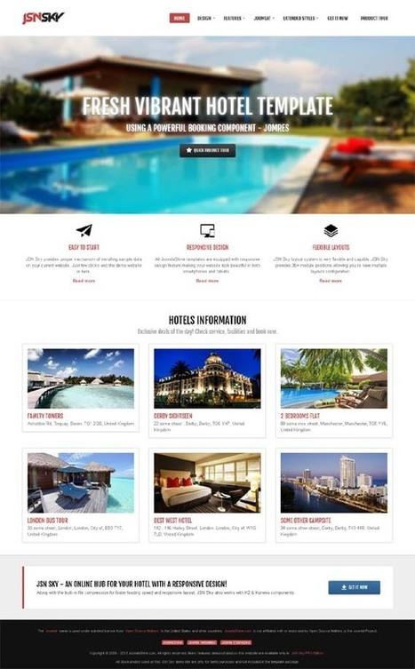 JSN Sky, Joomla Responsive Hotel Travel Template | Premium Download | Premium Joomla Templates Download | Scoop.it
