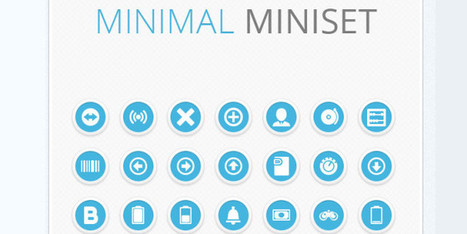 Download excellent set of minimalistic icons for free | W3 Update | Tutorial | Scoop.it