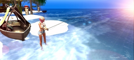 #291 On the beach, feet in the water ..I feel good � | 亗 Second Life Freebies Addiction & More 亗 | Scoop.it