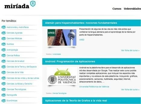 Gustavo Martínez Blog´s » Blog Archive » Miriadax.net: Cursos gratis online y en español dictado por Universidades Iberoamericanas | Alfabetización digital | Scoop.it