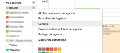 Google Agenda s'enrichit d'une corbeille à évènements - WebLife   Informatique TPE   Scoop.it